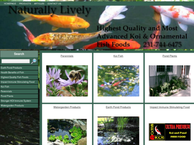 Naturally Lively Sho Koi Food Pond Water Garden Supplies West Michigan Muskegon Per