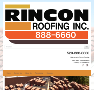 Tucson Custom roofing experts, call Rincon Roofing of Tucson, Arizona.